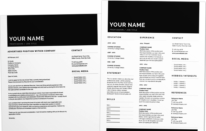 Resume Template Adobe Illustrator 91