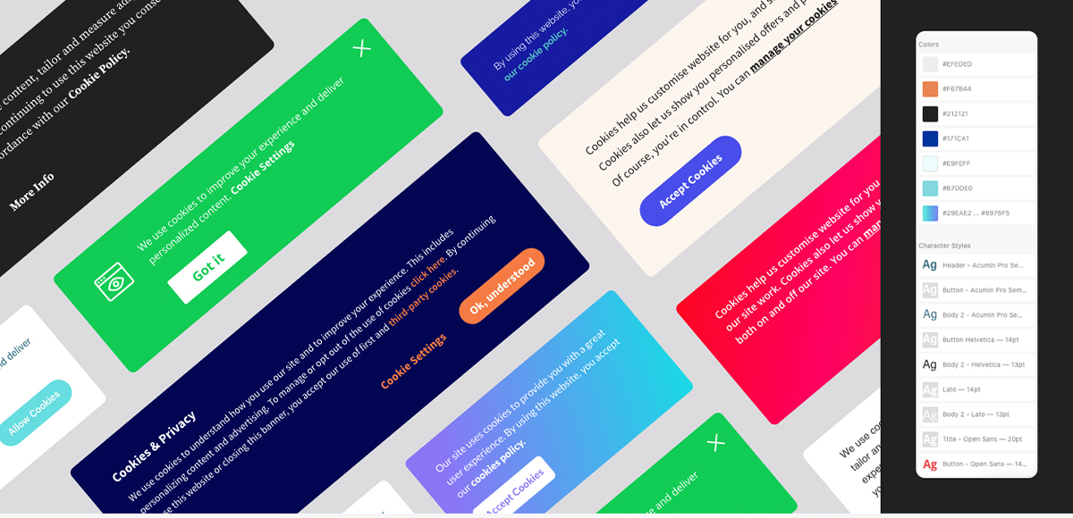 Download the free Cookie Banner UI kit.